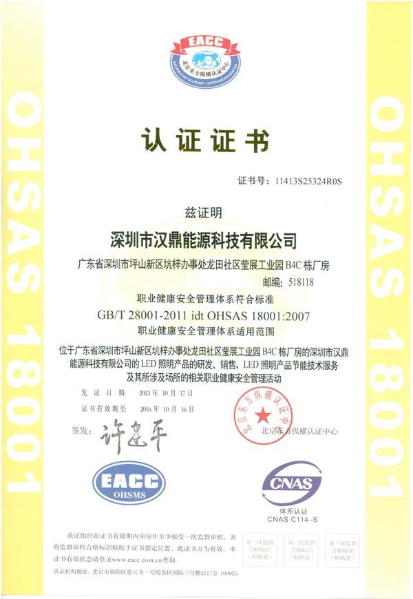ISO 18001 中文版