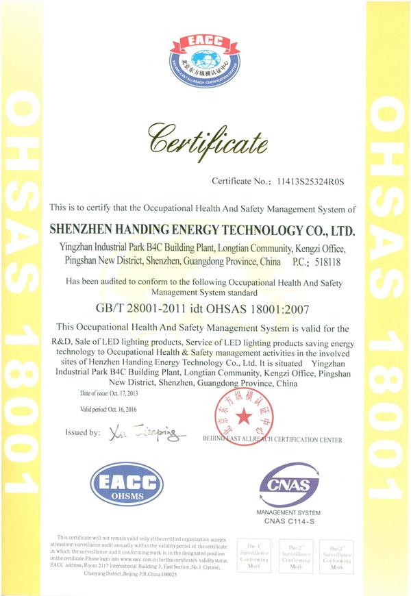ISO 18001 英文版