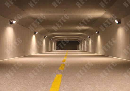 汉鼎LED投光灯模拟隧道